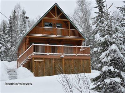 Chalet le Malard | Mont-Tremblant Peace Haven | Private SPA | WiFi | 4 Stars Wood Log Cottage