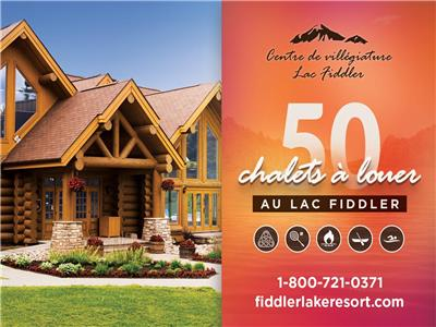 Fiddler Lake Resort: 50 cabins rental / Deer