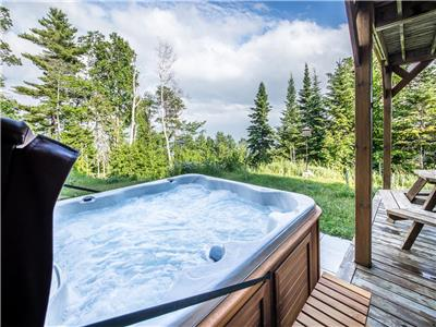 Condo Ski Nature, garden level with hot tub