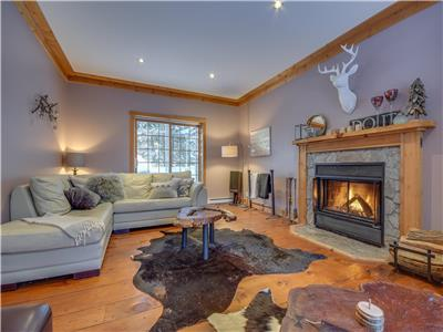 Luxury Chalet with private sandy beach 7 km from Mont Tremblant ski resort!
