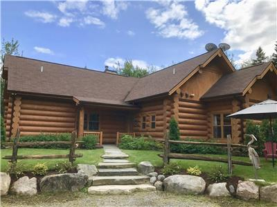 Prestigious log home